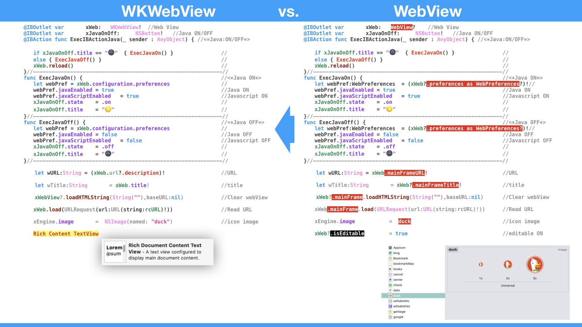 WKWebView vs  WebView on macOS | raizan2ame
